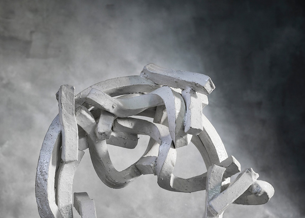 "White Ceramic Hoop, 24"" diameter"