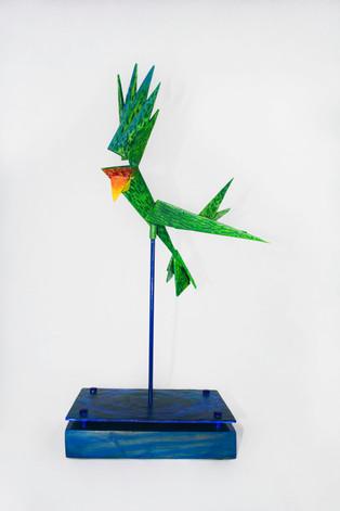 The Flight of Amazona vittata