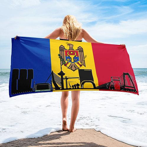 Handdoekvlag DreamSkyLine Unity Moldavië