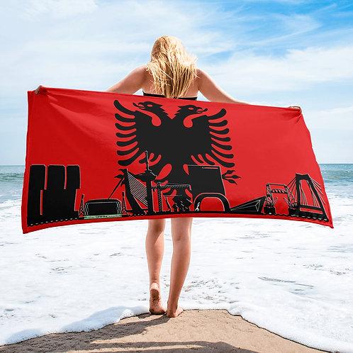 Handdoekvlag DreamSkyLine Unity Albanië