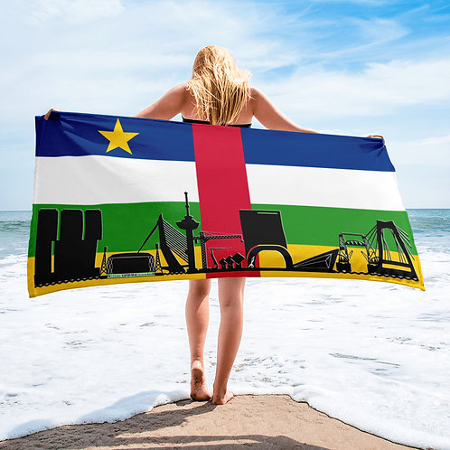 Handdoekvlag DreamSkyLine Unity Centraal Afrikaanse Republiek