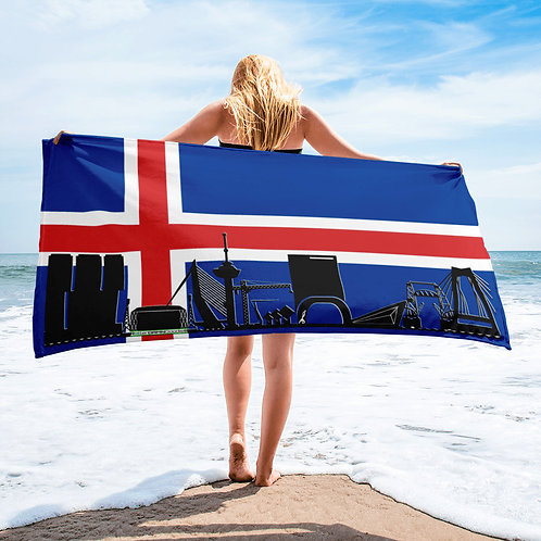 Handdoekvlag DreamSkyLine Unity IJsland