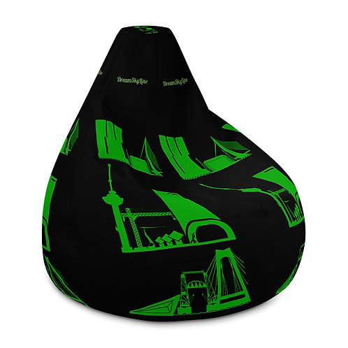 Zitzak black DreamSkyLine ToTem Green