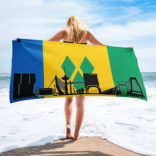 Handdoekvlag DreamSkyLine Unity Sint Vincent en de Grenadines