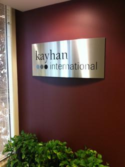 Kayan lobby sign