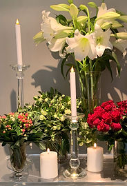 Flowers and candles from Grandiflora