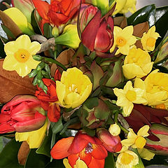 Grandiflora Flower Flax Basket