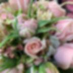 Grandiflora dusty pink posy