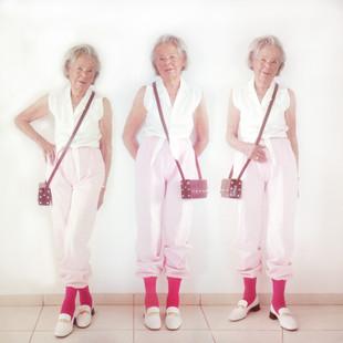 Grandma Wearing LAX Shoes & Dueple Socks