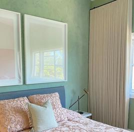Blush Linen Ripplefold Curtains
