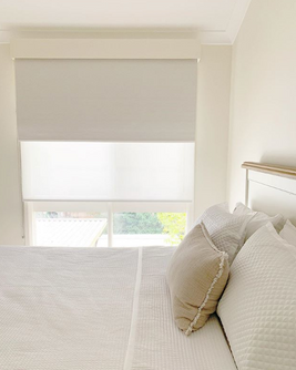 Dual Roller Blinds, sheer and blockout for a functional clean finish