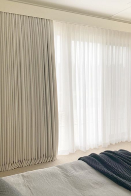 Blockout Lined Curtains with Sheers