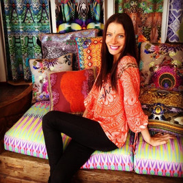 Camilla & Marc showroom cushions