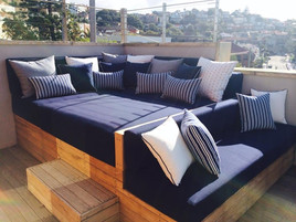 Outdoor Day Bed & Cushions