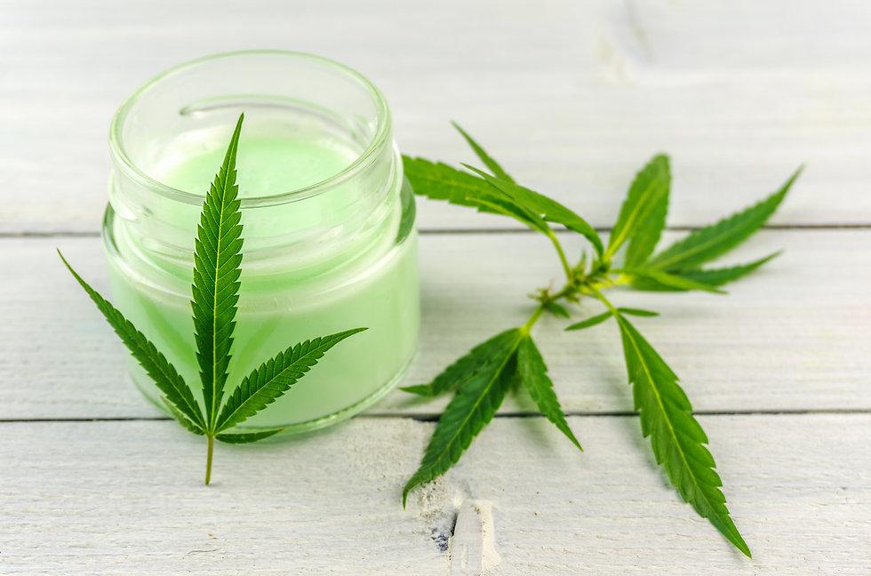 CBD Cannabis Hemp topical cream balm wit