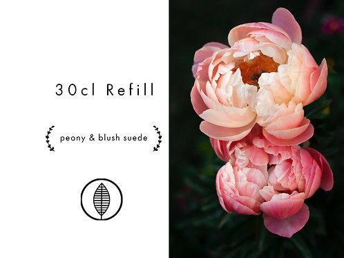 Refill 30cl - Peony & Blush Suede