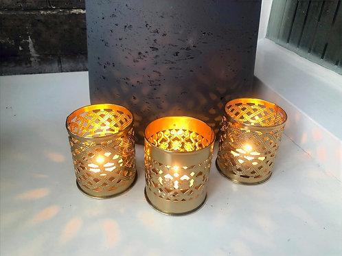 Kasbah Decorative T-light Holder Trio