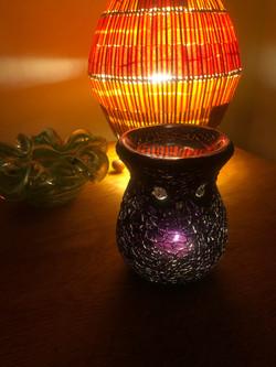 Mosiac glass burner