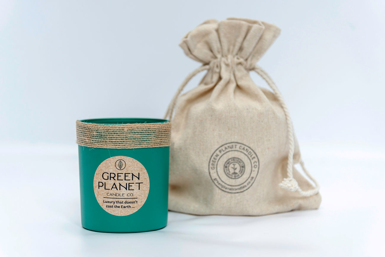 Green Planet Candle Co. linen swag bag