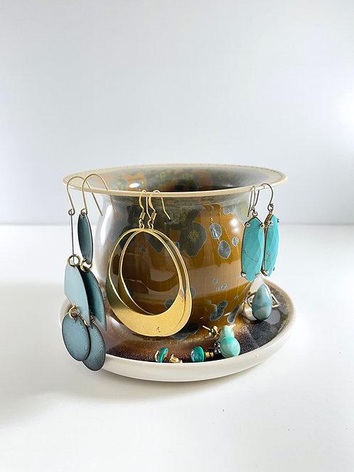 Earring Tree - Copper Penny Crystalline