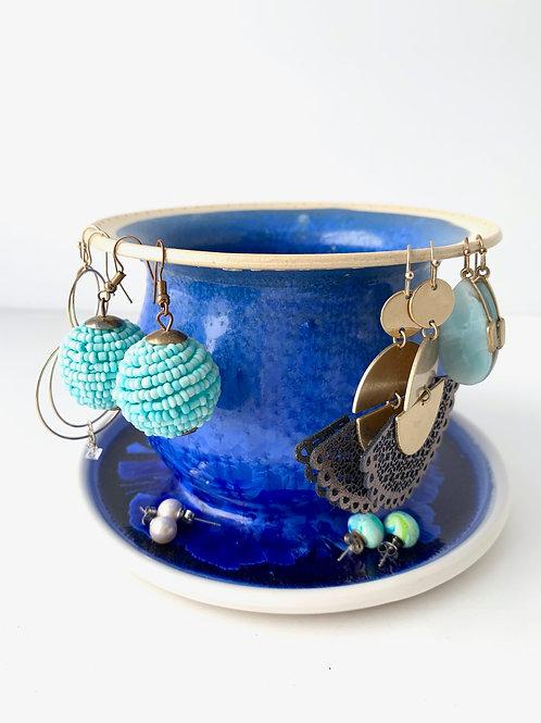 Earring Tree - Cobalt Crystalline
