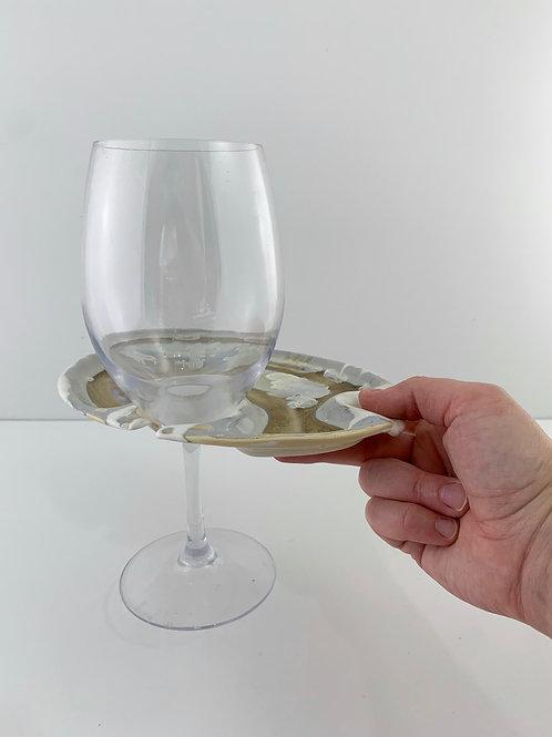 Wine & Dine Plate - Ivory Crystalline