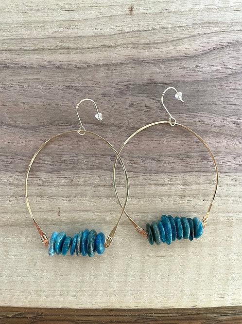 Birdie Earring - Turquoise Stack