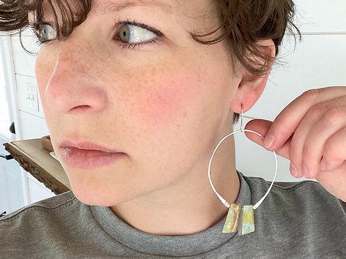 Birdie Earring - Boulder Opal