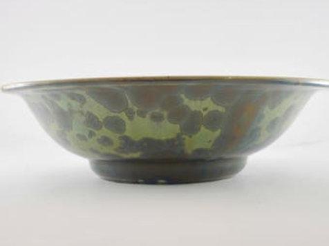 Serving Bowl - Dark Turquoise Crystalline