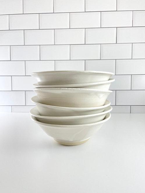 Dinner Bowl - White Flare