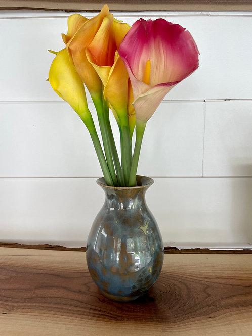 Vase - Dark Turquoise Crystalline