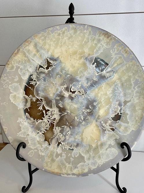 "Luna Platter - 16"" - Ivory Crystalline"