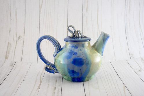 Teapot, Cobalt & Copper Crystalline