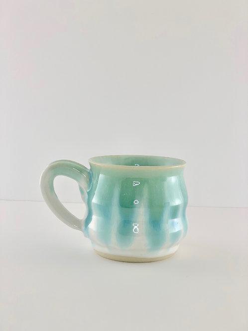 Mug - Bubble, Emerald Drip