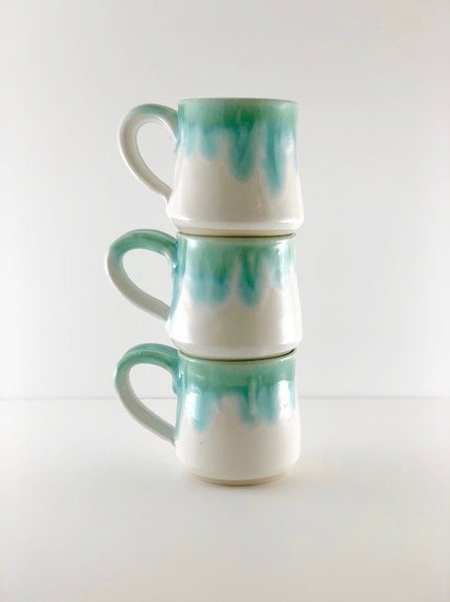 Mug - Straight White & Emerald