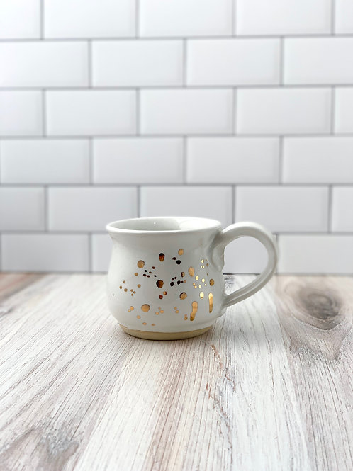 Mug - White Splatter Gold