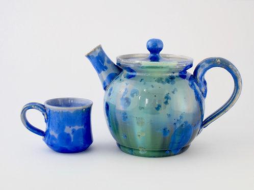 Ocean Crystalline Teapot, Large