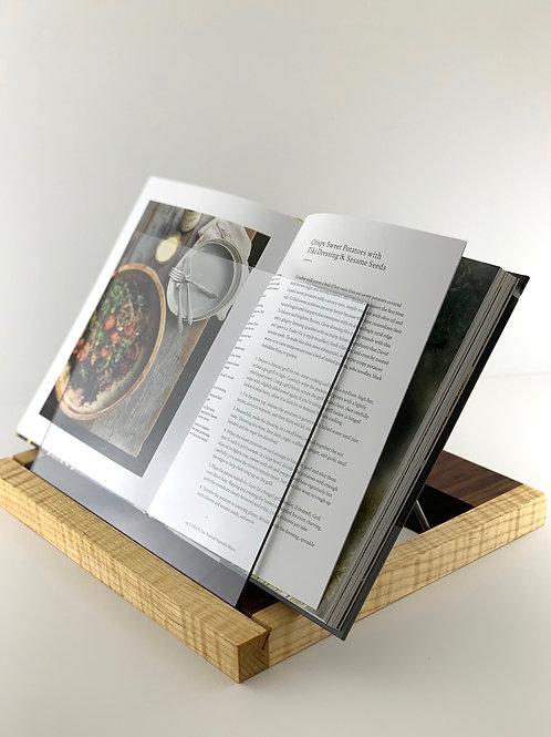 Cookbook Stand - Curly Maple & Walnut