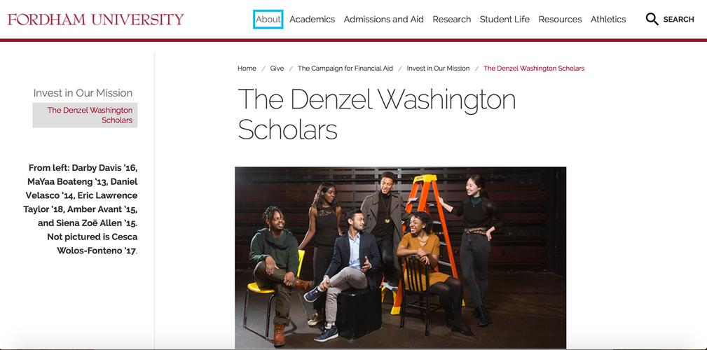 Denzel Washington Scholarship