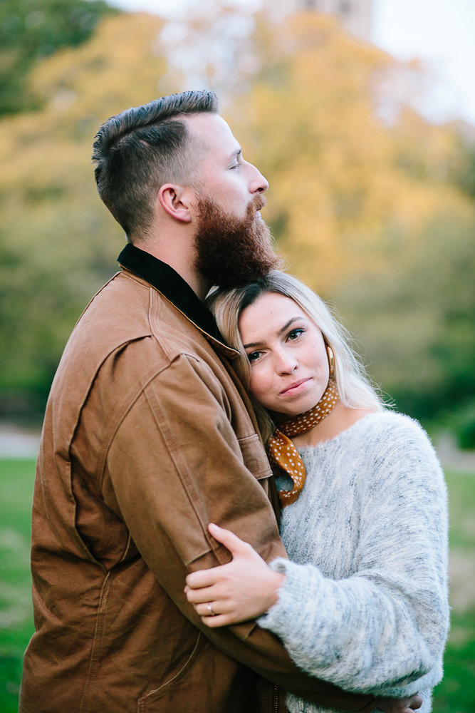 nyc outdoor lifestyle couple session