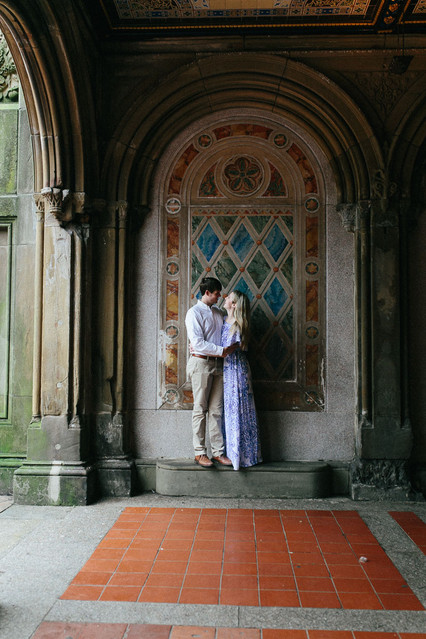 couple session, bethesda fountain, central park engagement session