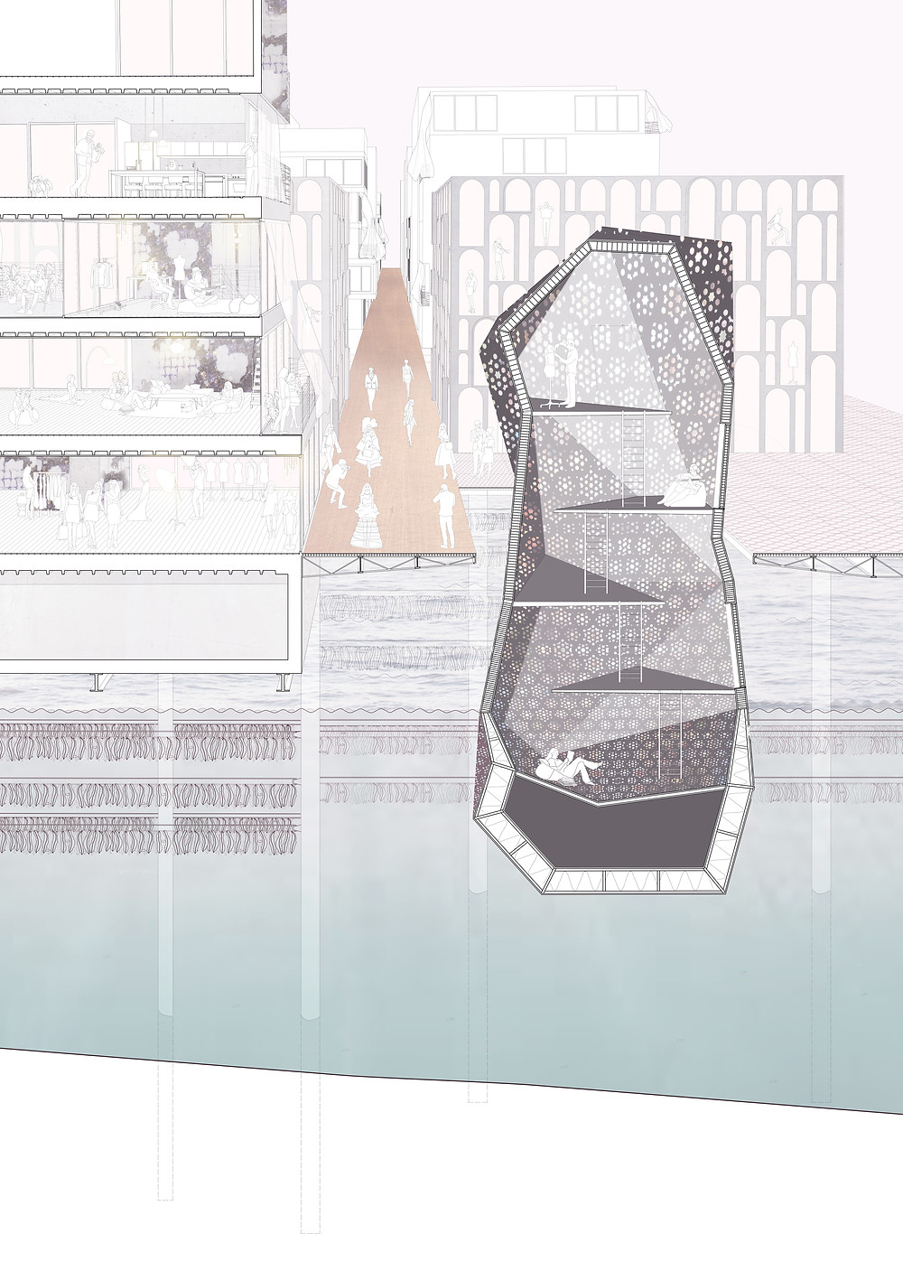 Perspective Section LACUNA Fashion Island