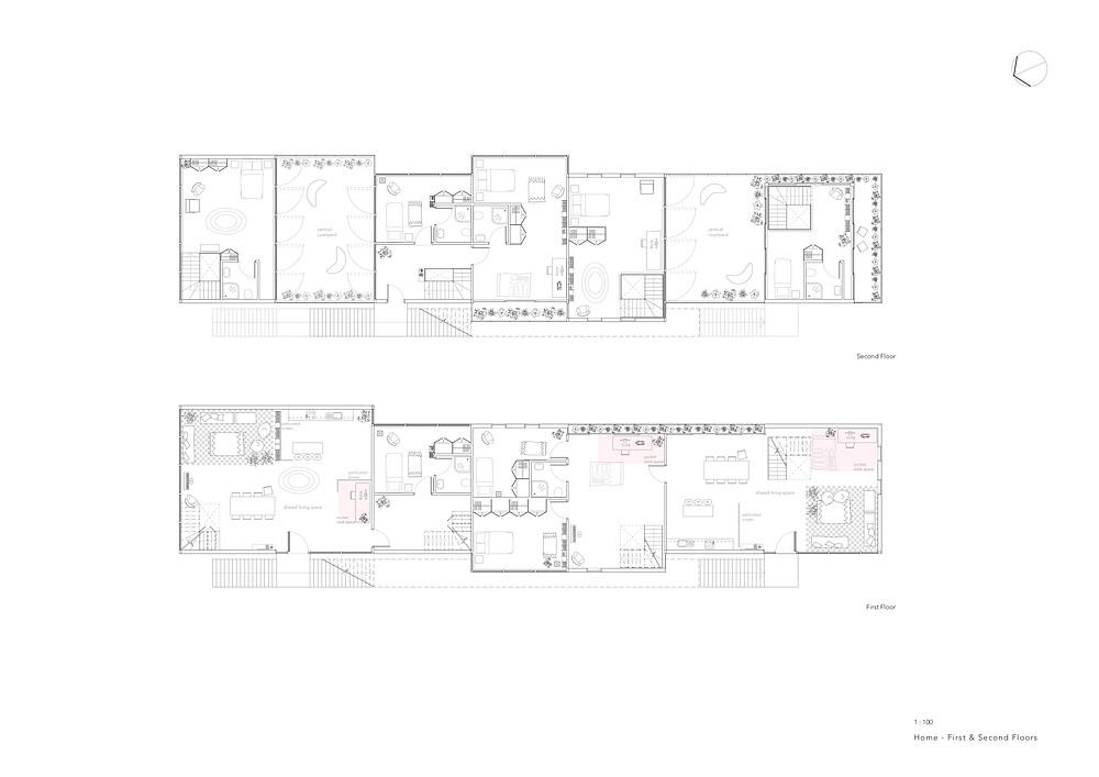 Home floor plans 1:100