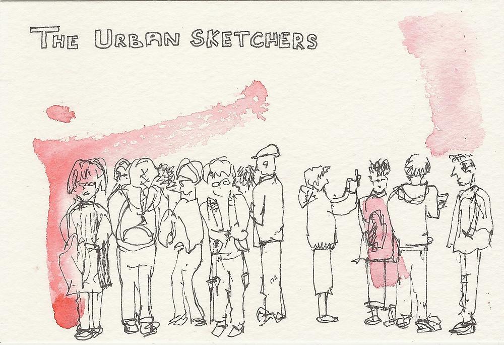 Nouha Hansen The urban sketchers