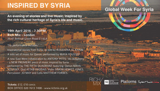 INSPIRED BY SYRIA - 19 April, London