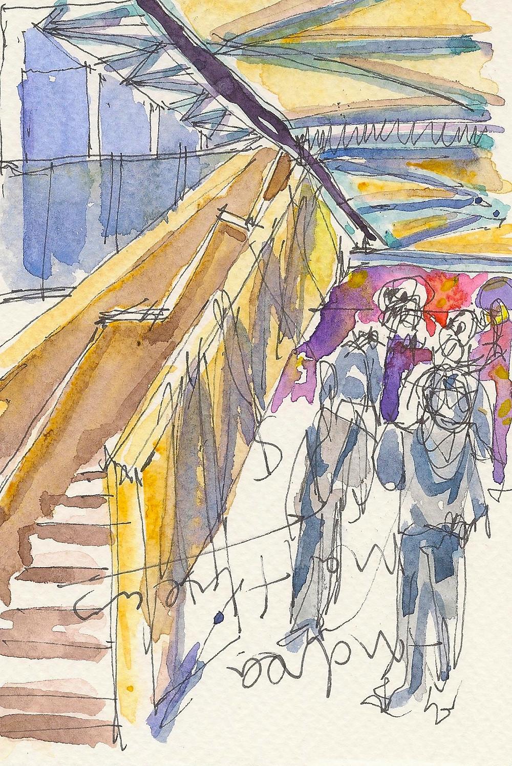Nouha Hansen Urban Sketchers Closing Reception