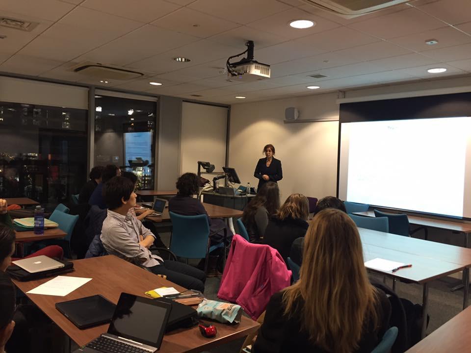 Roudaina Alkhani presenting assessment tools.