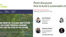Moderating a panel on smart eco-city at the Smart to Future Cities Conference