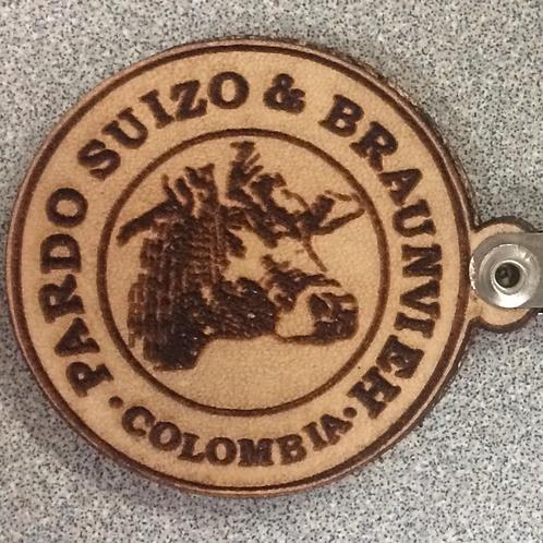 LLavero Logo en Cuero Repujado