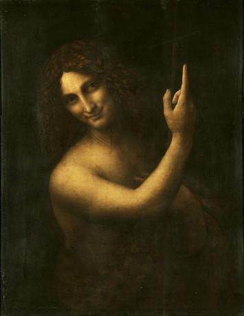 Леонардо да Винчи. Иоанн Креститель. Дерево, масло. 1514–1516. Лувр, Париж